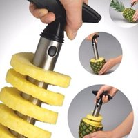 Wholesale kitchen tools accessories online - 50pcs Stainless Steel Easy to use Pineapple Peeler Accessories Pineapple Slicers Fruit Knife Cutter Corer Slicer Kitchen Tools with dhl ship