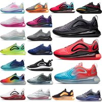 nuevo flash de mar al por mayor-720 nuevos zapatos para correr completa Acolchonadas Hombres Mujeres ser verdad Lobo Gris Universidad del Mar flash Bosque psíquico polvo Volt Racer para hombre azul Deportes Snea