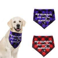 ingrosso sciarpa di nozze del cane-Natale Moda sposa con animali Triangolo sciarpa del cane sciarpa collare sciarpa tovagliolo della saliva animale domestico fornisce all'ingrosso accessori del cane Bandane