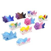 unicórnio de resina venda por atacado-10 cor Kawaii PU lento rebote unicórnio Pegasus squishy resina artesanato criativo ornamentos descompressão brinquedo dos desenhos animados M016
