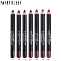 mehrfarbiger stiftstift groihandel-Multicolor Party Queen Lip Liner Bleistift Hochwertige Funktionsaugenbrauen Augenlippen Make-up Wasserdicht Easy Wear Cosmetic Lipliner Pen