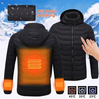casaco de roupa de segurança venda por atacado-Melhor Inverno quente aquecido elétrico Jaqueta de trabalho Casacos com capuz de trabalho com capuz USB Controle de temperatura ajustável Roupa de segurança