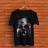 Wholesale anime items resale online - 2020 New Cotton T Shirts Men NEW Death Note Anime Japanese Mens Black T Shirt Tee RARE ITEMS Casual Men Tees
