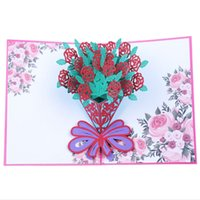 Valentine S Day 3d Love Up Cards With Envelope Stickers Wedding Laser Cut Invitation Greeting Cards Anniversary For Her