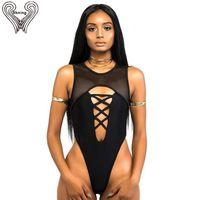 f4b221cda0 Tanga Badeanzug Frauen Bademode 2018 Mesh Body High Cut Monokini Badeanzug  Für Frauen Badeanzug Strand Tragen