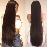 brazilian dantel peruk 22 inç toptan satış-30 Inç Siyah Kadınlar Için Brezilyalı Saç Peruk Tutkalsız Dantel Ön Peruk Uzun Düz 28 30 Inç Tam Dantel İnsan Saç Peruk