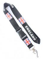 Wholesale usb flag for sale - Group buy British Flag Phone Strap Neck Lanyards for keys ID Card Pass Gym Mobile Phone USB badge holder DIY Hang Rope Lanyard