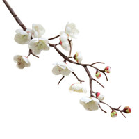 Wholesale plum blossom flower for sale - Group buy 1PC Artificial Flowers cm Plum Blossom Branch Silk Fake Flower Floral Tree Branches Wedding Decoration Home Table Decor