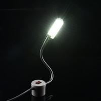 panel kitap ışığı toptan satış-12/20 / 30LED Taşınabilir Dikiş Makinesi Işık LED Işık Tüm Dikiş Makinesi için Manyetik Montaj Bankası Gooseneck Lambası Aydınlatma