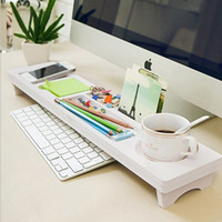 contas de computador venda por atacado-Multifuncional Prateleira De Armazenamento De Teclado De Computador De Mesa De Madeira De Plástico Pen Beads Home Decor Hanger