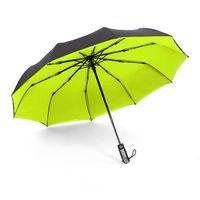 paraguas automático mini al por mayor-2019 Paraguas Lluvia Mujeres Hombre Hombre Full-Automatic del paraguas plegable Hombre Paraguas Plegable Mini Paraguas claro 50Ry002