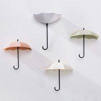 duvara montaj aksesuarları toptan satış-Popüler Ev Dekorasyon Aksesuarları Şemsiye 6 Adet Sevimli Şemsiye Duvara Montaj Anahtar Tutucu Duvar Kiti Askı Organizatör Dayanıklı