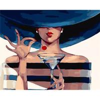 африканская масляная краска оптовых-Foraway DIY голые африканские женщины живопись маслом по номеру на холсте сделано в китае поддержка прямая поставка бесплатная доставка