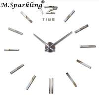 ingrosso grandi orologi decorativi a parete-Nuovi grandi orologi da parete decorativi Orologi fai-da-te Soggiorno reloj murale Wall Clock Sticker