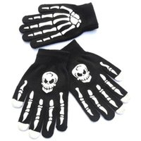 Wholesale skull cycling gloves for sale - Group buy Knitted Gloves Write Nonslip Skull Ghost Claw Printing Glove Outdoors Riding Keep Warm Camping Equipment Touch Screen Gloves ZZA1410