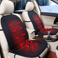 taillenwärmekissen großhandel-Schwarz 12 V Auto Elektrische Beheizte Massage Sitzkissen Schmerzen Nacken Taille Entspannung Vibration Massager Pad Auto Ganzkörpermassage Sitz