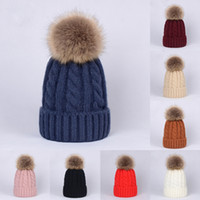 Wholesale leather beanie for sale - Group buy Kids Adult Solid Knitted Hats Unisex Crochet Knitting Wool Bobble Winter Toddler Kids Designer Hats Fashion Pompon Ski Warm Hats
