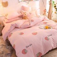 Wholesale beddings resale online - Winter Coral Fleece Beddings Mink Plush Denim Suede One Side Velvet Fleece Soft