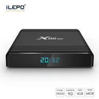 ingrosso google smart box-X96 Aria Android TV Box con Android9 S905X3 4GB 32GB / 64GB 2.4G + 5G WiFi Bluetooth scatola astuta della TV 8K 1080P Aggiornamento X96 mini