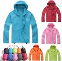 Wholesale raincoat fashion women for sale - Group buy HOT Hiking Windbreaker XS XXXL Women Men raincoat Outdoor Sport Waterproof Jacket Windproof Quick dry Clothes Skinsuit Plus Size Outwear