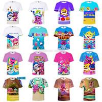 bebek tarzı oyuncak toptan satış-Çocuklar 3D Bebek Köpekbalığı T-shirt 14 tarzı Bebek Köpekbalığı tişört XXS-4XL çocuklar 110/120/130/140/150 Karikatür Giyim Çocuk oyuncakları Hediye