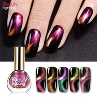 Wholesale eye black stick for sale - Group buy BeautyBigBang D Magnetic Cat Eye Nail Polish Black Polish Stick Aurora Series Glitter Varnish Magnet Nail Art Lacquer Set