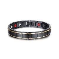 stahlheilungsarmband großhandel-Therapeutische Energieheilung Armband Magnetfeldtherapie-Armband aus Edelstahl