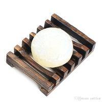 ingrosso piatti di sapone in legno-Portasapone Piatto da bagno Doccia Supporto per stoviglie Supporto in legno Portasapone naturale