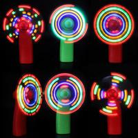 ventilador de mano led al por mayor-2019 Summer led mini fan kids colorful small fan kids LED Lighted Toys Handheld flash Fan