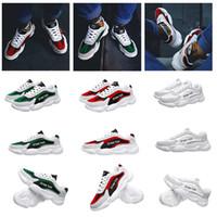 zapatos de cuero fresco para los hombres al por mayor-marrón de cuero viejo verde negro gris oscuro 2020 fresco de alta calidad de las zapatillas de deporte para hombre clásico del hombre del deporte de los zapatos ocasionales
