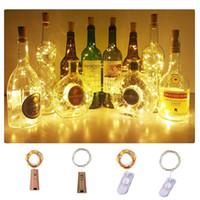 ingrosso mini luci a forma di stringa-Luci di Natale 2M impermeabile di rame mini Fata della luce della stringa delle luci leggiadramente fai da te Glass Craft Bottiglia luci della stringa LED