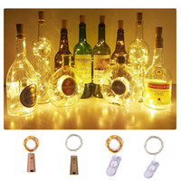 led-flasche beleuchtung großhandel-Weihnachtsbeleuchtung 2M wasserdichte Copper Mini-Fee-Schnur-Licht Lichterketten DIY Glass Craft Flasche führte Lichterketten
