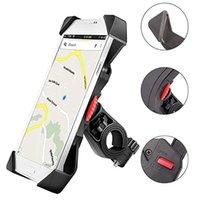 ingrosso culla telefonica per bicicletta-Supporto telefono bici Anti scossa e morsetto culla stabile con rotazione a 360 gradi Supporto per bicicletta per iPhone Samsung GPS Android
