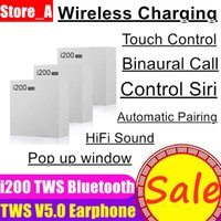 iphone batteriekapazität großhandel-NEU Air 2 Kopfhörer i200 TWS Bluetooth Pop-up-Fenster Echte Batterie Kapazität Kabelloses Headset Ohrhörer vs i20 i30 i60 i80 i100 tws