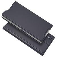 estuches billetera xperia z al por mayor-Para Sony Xperia Z5 Funda de cuero de lujo Flip Wallet Phone Bags Cover Para Coque Sony Xperia Z5 / Z5 Dual Case Z 5 Capinha Etui