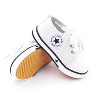 botas infantiles moradas al por mayor-Baby First Walkers Shoes Zapatos de lona Infantil Casual con cordones Sport Solid Primavera y otoño Zapatos de bebé