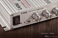 mini amplifikatörler stereo toptan satış-DHL 10 ADET Araba LEPY LP 268 Yeni Mini Hi-Fi Ses Stereo Amplifikatör Araba Motosiklet Tekne Ev Için 12 V Hoparlör