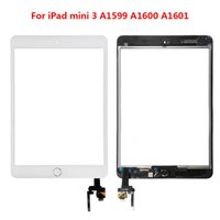 Wholesale 20 Free DHL for iPad mini Touch Screen Digitizer Assembly with Home Button Home Flex Cable IC Connector