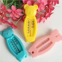 plastik su banyosu toptan satış-Karikatür Yüzer Güzel Ayı Bebek Su Termometre, Çocuklar Banyo Termometre Oyuncak, Plastik Küvet Su Sensörü Termometre C2
