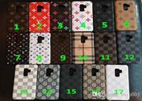 impresión de estuche rígido al por mayor-Funda de teléfono de marca de lujo para iPhone X XS XR Xs máx 8 7 7 plus impresión cubierta dura del teléfono S7 S7 edge S8 S8 más S9 S9 plus nota 5 nota 8 nota 9 001