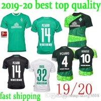 melhor qualidade tailândia futebol jersey venda por atacado-de melhor qualidade em estoque 19 camisa de futebol Bremen 2019 camisa de futebol 2020 M. EGGESTEIN Osako KLAASSEN PIZARRO 20 tailândia SV Werder Bremen