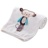 ingrosso letti per bambini-Coperta del bambino Flanella morbida Felpa Ricama Passeggino Car Sofa Bedding Coperta Boy Girl Lion