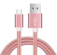 nuevo tipo de cargador de teléfono al por mayor-Nuevo caliente 0.25 m 1 m 2 m 3 m Tipo C Cable micro cargador USB Cable trenzado para Samsung S8 Plus HTC Sony y teléfono móvil