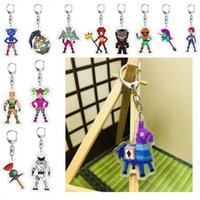 Wholesale adult anime character for sale - 40 Styles Game Fortnite Character Acrylic Keychain Cartoon Figure Pedant Anime Key Chains for Children Adults Fans Xmas Gift Key Ring