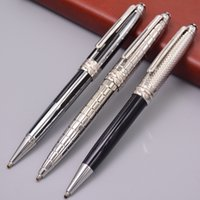 Wholesale high quality ballpoint pen resale online - Promotion High Quality Meistersteks Silver Metal Ballpoint Pen School Office Supply With MB Series Number XY2006108