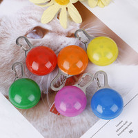Wholesale led dog collar pendant lights resale online - Pendant For Dogs LED Cat Dog Collar Leads Lights Glowing Pendant Pet Luminous Bright Glowing Collar For Dogs ID Tags