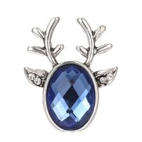Wholesale necklace elk for sale - Group buy 20pcs New Christmas Snap Jewelry mm Snap Buttons Rhinestone Elk Deer Fit Women Jewelry Necklaces Bracelets