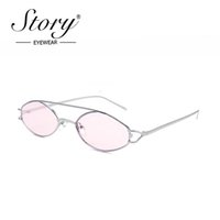 Wholesale 90s oval sunglasses for sale - Group buy Small Oval Sunglasses Women Vintage Retro S Skinny Frame Tiny Sun Glasses Female Pink Purple Shades High Quality