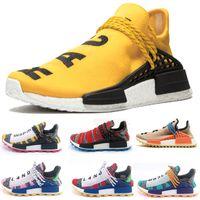 outlet store f87ea a9d93 Avec Box 2019 NMD Human RACE HU Chaussures de course pour homme Designer  Sneakers Femmes Pharrell Williams Trail Sports Chaussures de sport neutres