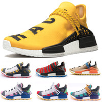 Wholesale human race shoes men online - With Box NMD Human RACE HU mens Running Shoes for Men Designer Sneakers Women Pharrell Williams Trail Sports neutral Trainers shoe